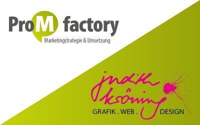 Kooperation zwischen judith kröning | GRAFIK.WEB.DESIGN und ProM factory
