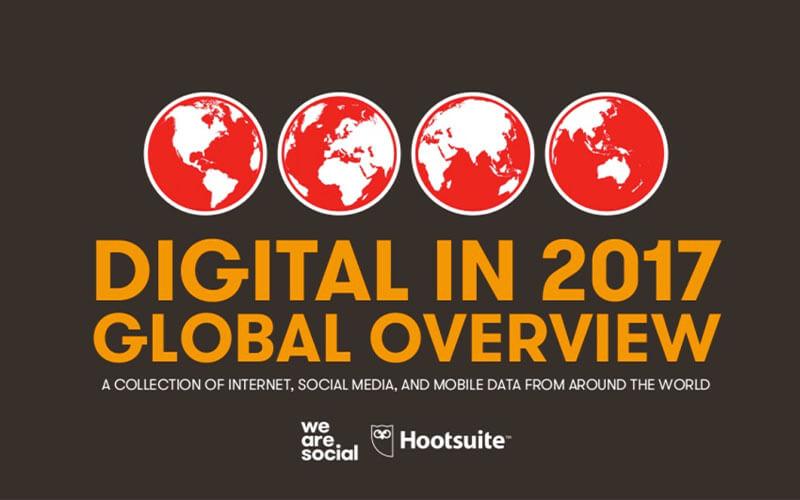"Digital Report 2017 von ""We are Social"""